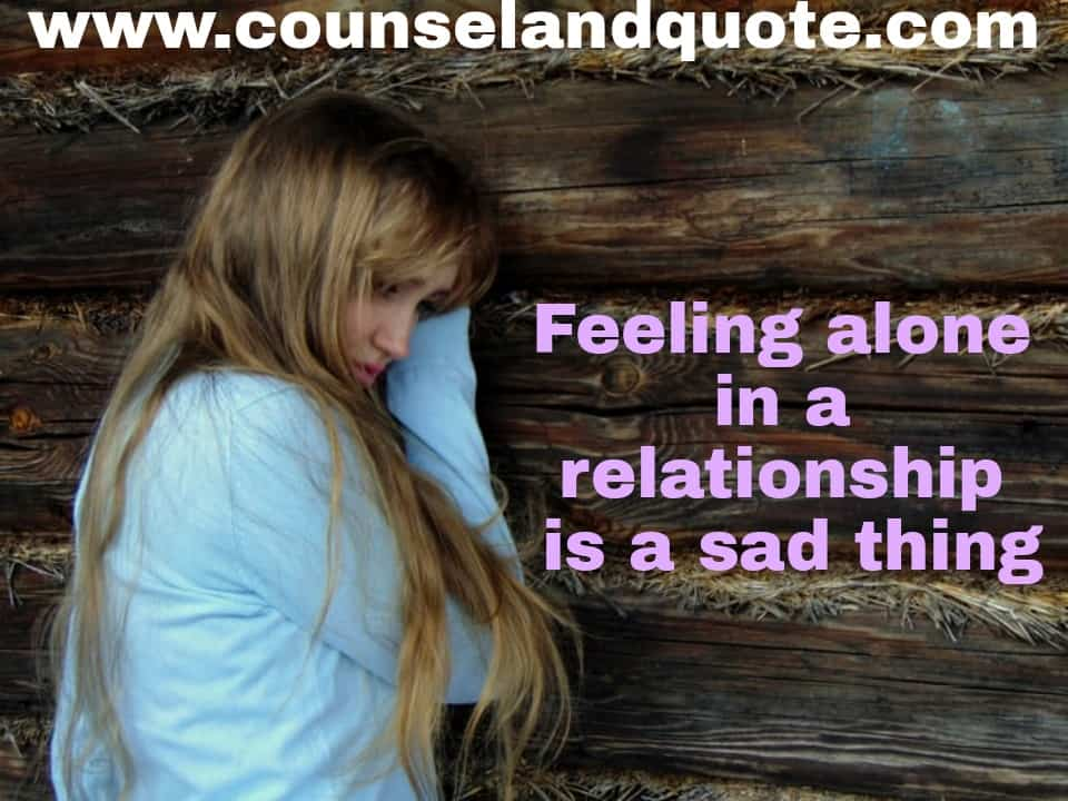 Feeling Alone In A Relationship